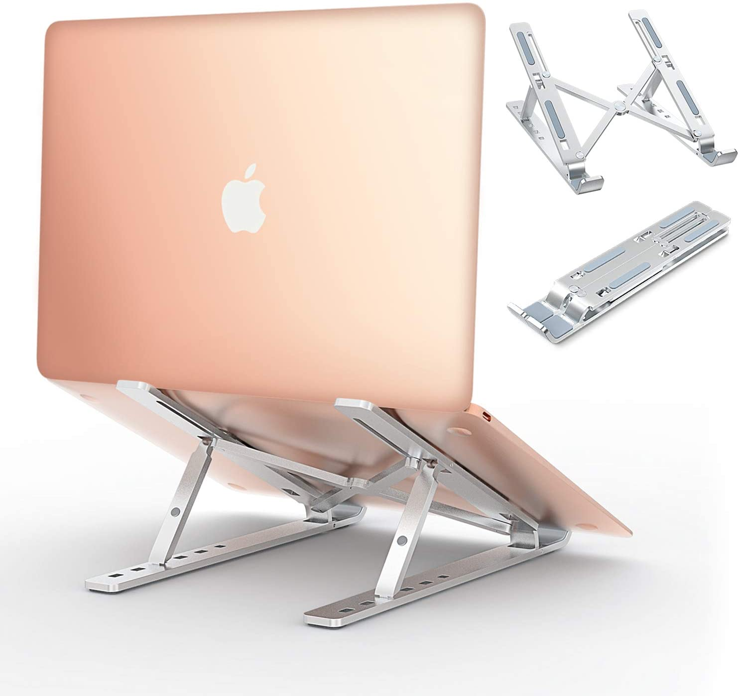 Comsoon Laptop Stand, Adjustable Portable Laptop Holder for Desk, Cooling Aluminum Ventilated Notebook Riser for MacBook Air Pro, Dell XPS, More 10-15.6 inches PC Computer, Tablet
