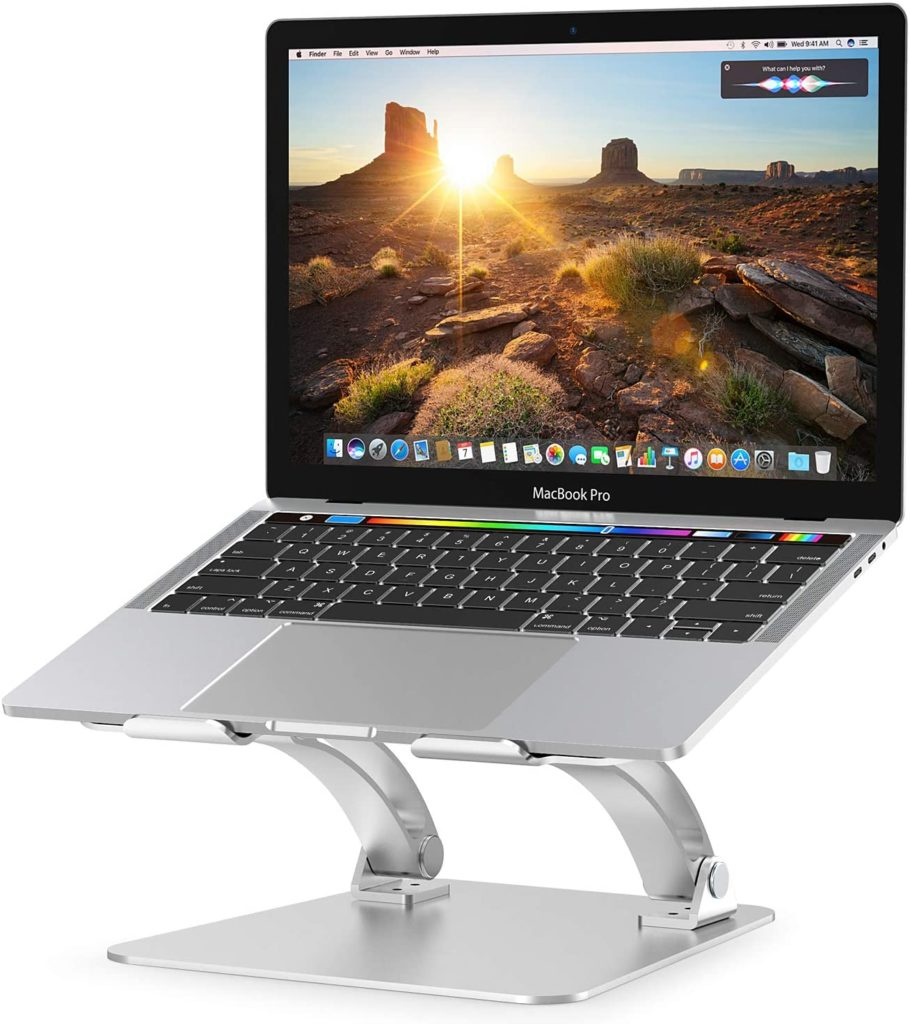 Nulaxy Laptop Stand, Ergonomic Height Angle Adjustable Computer Laptop Holder Compatible with MacBook, Air, Pro, Dell XPS, Samsung, Alienware All Laptops