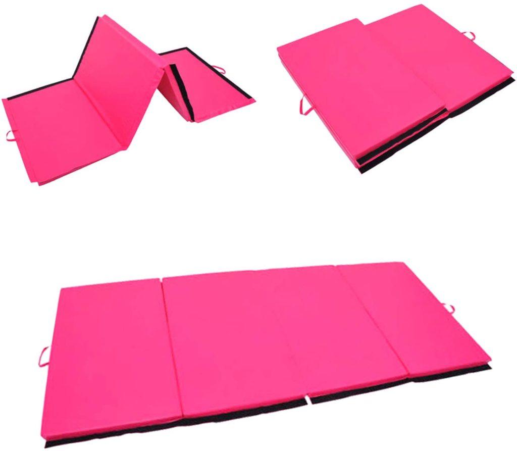 Polar Aurora 4'x6'x2 Gymnastics Folding Mat Fitness Aerobics Exercise Yoga Tumbling Mat Colors
