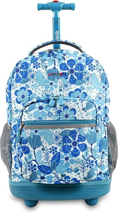 #1. J World New York Sunrise Rolling Backpack