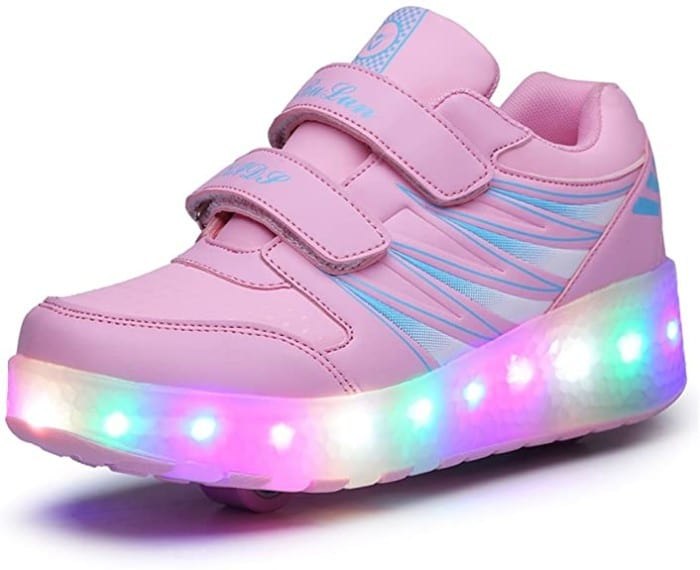 #1. Ufatansy Rechargeable Light-up LED Shoes