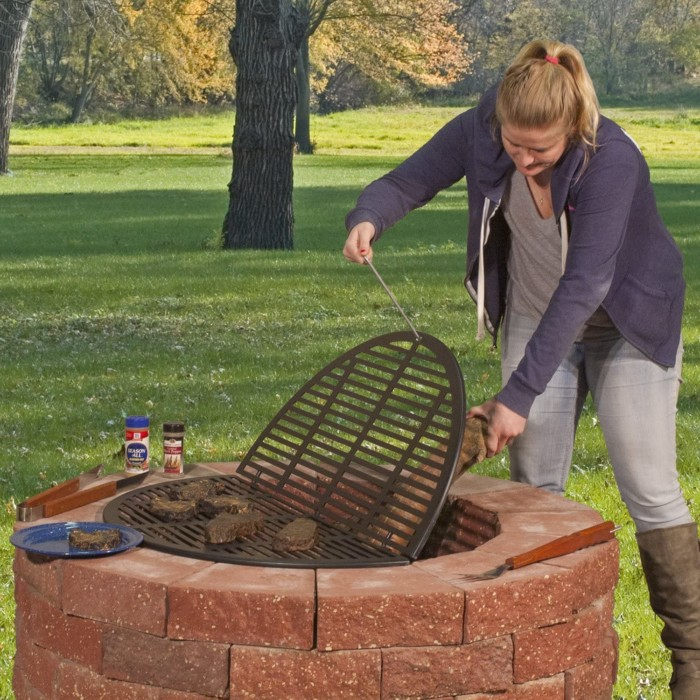 #10. Pilot Rock Foldable Campfire Grill Grates