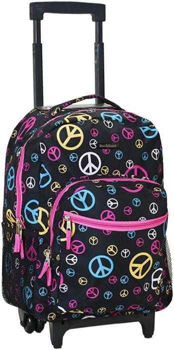 #2. Rockland Rolling Backpack for Kids with Double Handles