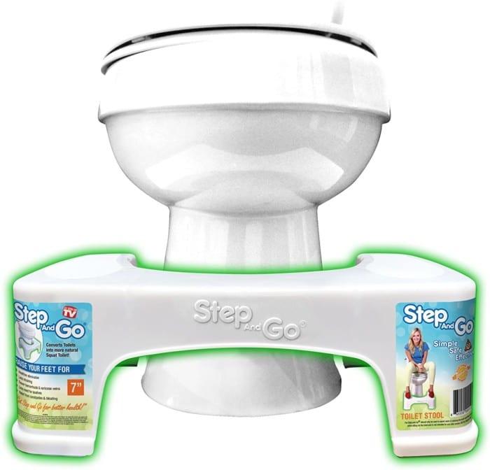 #2. Step-and-Go U-Shape Toilet Stool