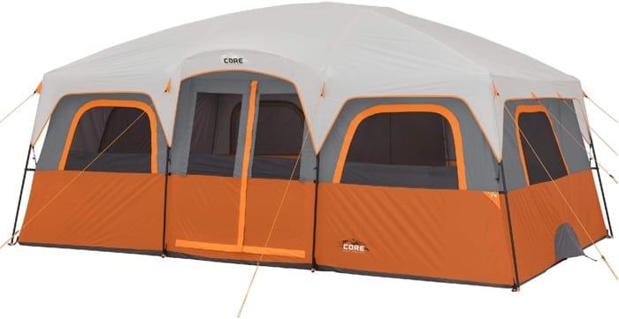 #3. Core Extra Large Tent with Removable Rain Fly