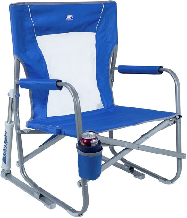 #3. GCI Waterside Beach Rocker with Drink Holder