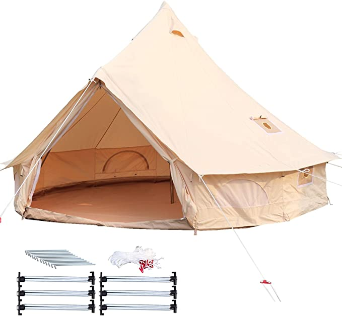 #4. Happybuy Canvas Durable Tent