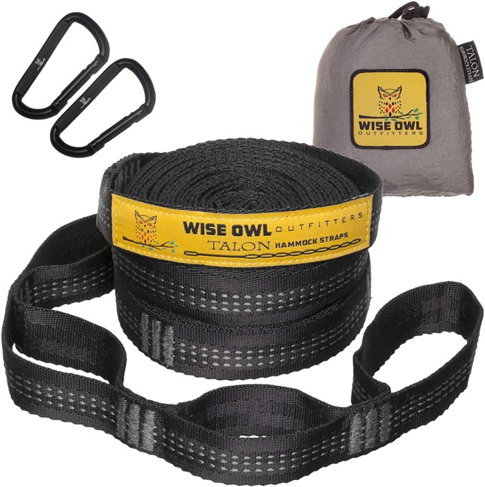 #4. Wise Owl Outfitters eco-friendly hammock tree straps