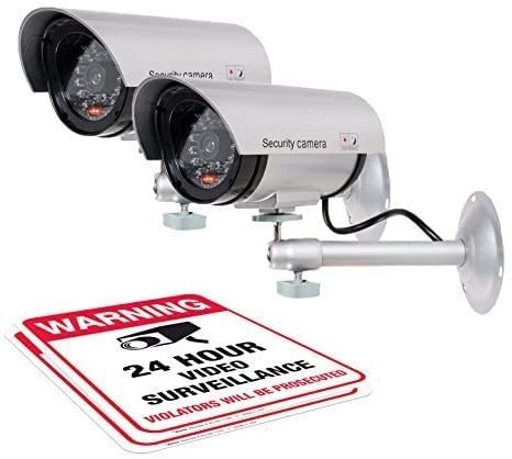 #5. Armo Dummy Mountable Security Camera (2 Pack) with Stickers