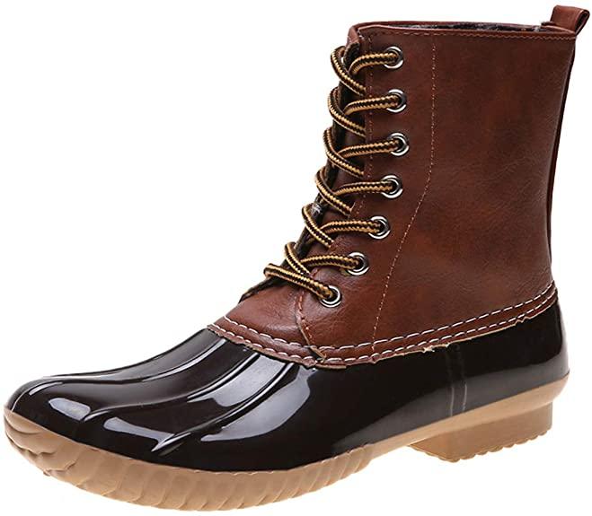 #5. fazoc PVC Thick Foam Duck Boots