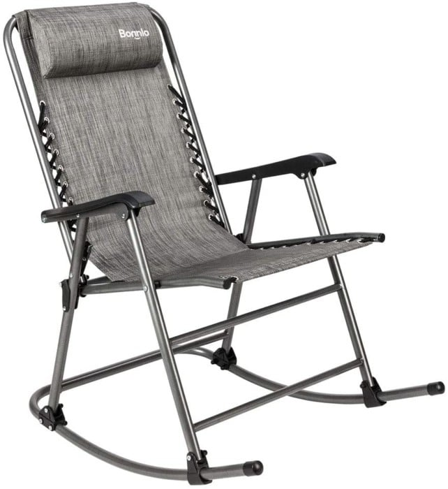 #6. Bonnlo Loghtweight Portable Rocking Chair