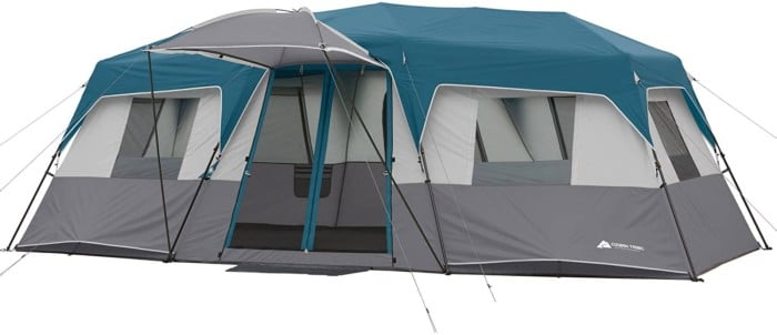 #6. Instant Cabin 12-person Tent with 3 Rooms