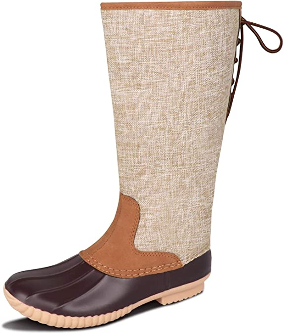 #6. MONOBLANKS Leather Tall Women Duck Boots