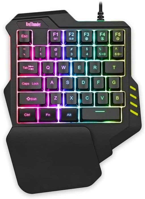 #6. RedThunder one handed gaming keyboard with recording key