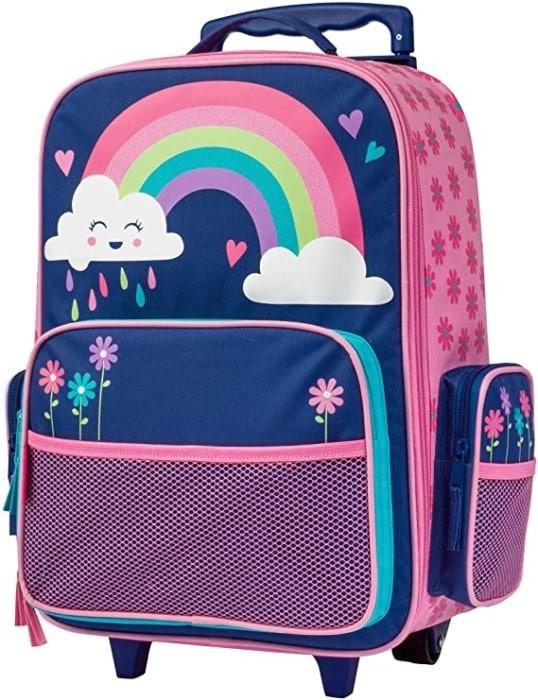 "#6. Stephen Joseph 18"" Rolling Backpacks for kids with Zipper"