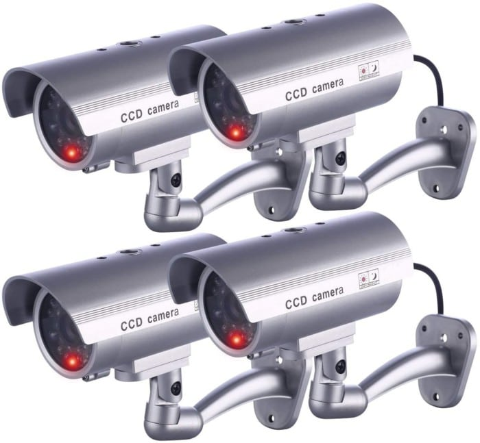 #7. IDAODAN Dummy Security Camera with LED lights
