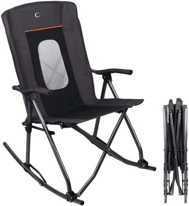 #7. PORTLE Oversized Heavy Duty Portable Rocking Chair