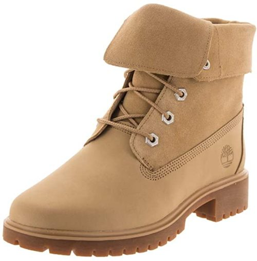 #7. Timberland Folded Down Combat Boots