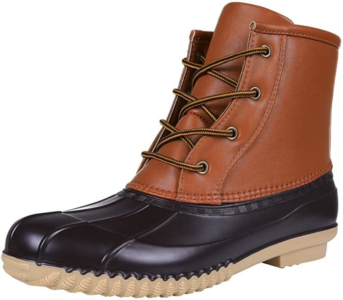 #7. Asgard PU Leather Women Duck Boots