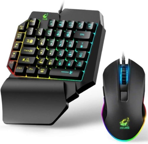 #8. BUFENG MOUNTAIN one handed gaming keyboard and mouse