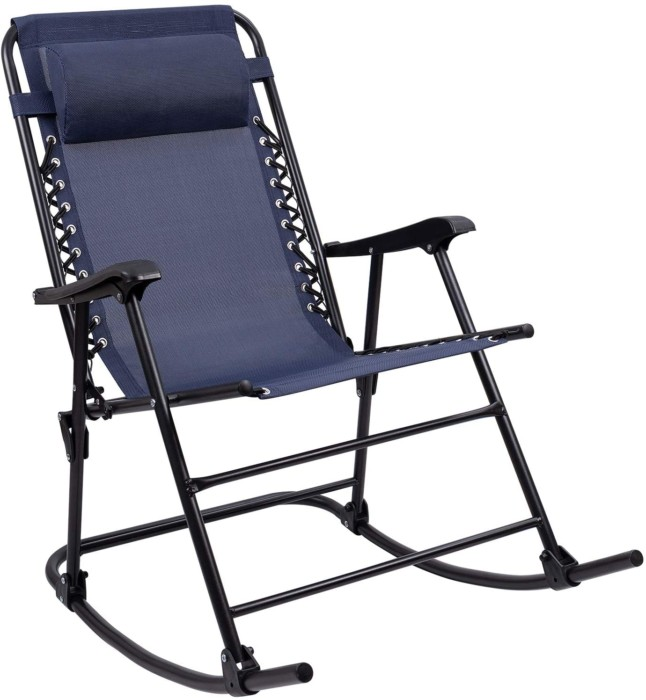 #8. Furniwell Comfortable Breathable Patio Rocking Chair