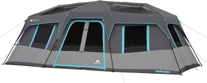 #8. OZARK TRAIL Foldable 12-person Tent