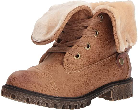 #8. Roxy Folded Down Combat Boots