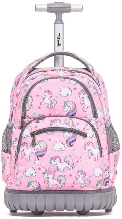 """#8. Tilami 16"""" Rolling Backpacks for Kids."""