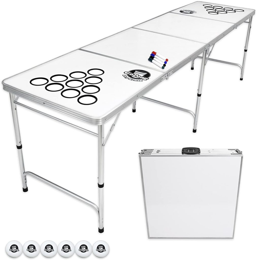 GoPong 8 Foot Portable Beer Pong / Tailgate Tables