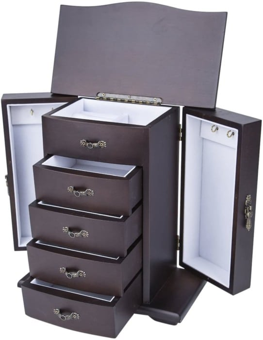 Saganizer Cherry Wooden Jewelry Boxes