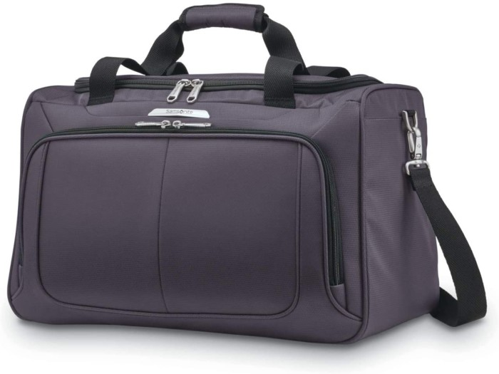 Samsonite Solyte DLX Softside Expandable Luggage with Spinner Wheels, Mineral Grey, Travel Duffel