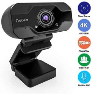 TedGem 8MP 4K Webcam