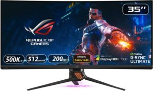 """Asus Rog Swift 35"""" Curved HDR Gaming Monitor"""