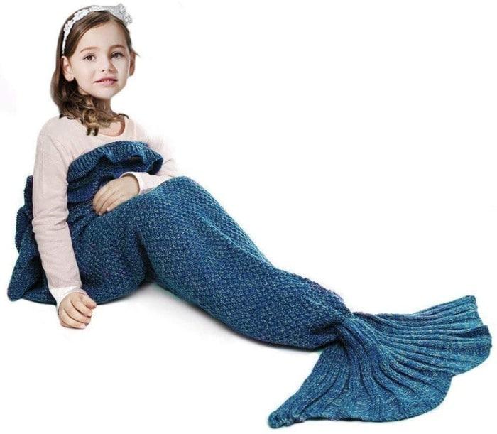 JR.WHITE Mermaid Blanket