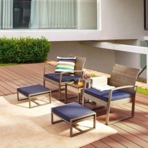 LOKATSE HOME Wicker Outdoor Conversation Set