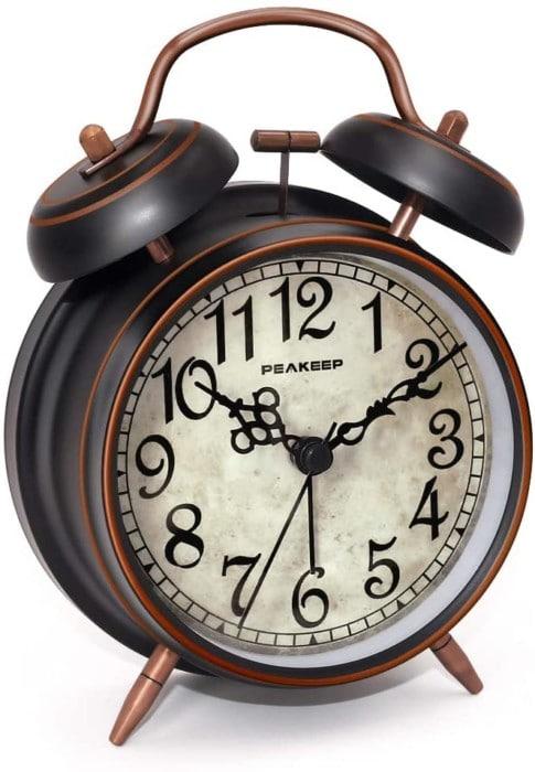Peakeep Retro Alarm Clock