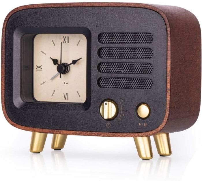 Retro Wooden Alarm Clock