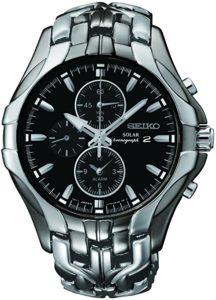Seiko Men's Excelsior Gunmetal and Silver-Tone Solar Watch