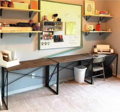 01. Coavas Folding Industrial Style Modern Computer Desk - Best Long Desk for Home Office