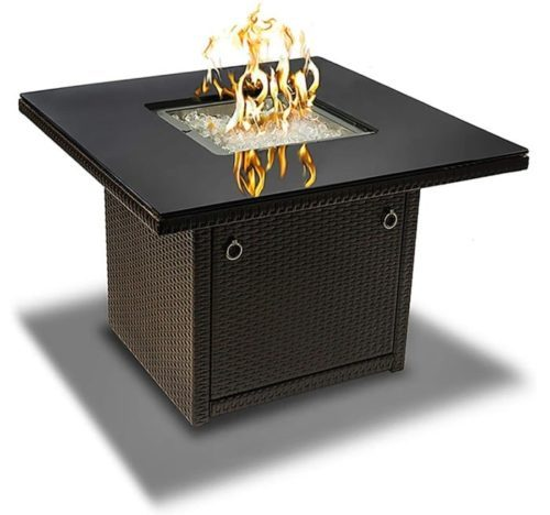 1. Outland Living Outdoor Propane Square Gas Fire Table