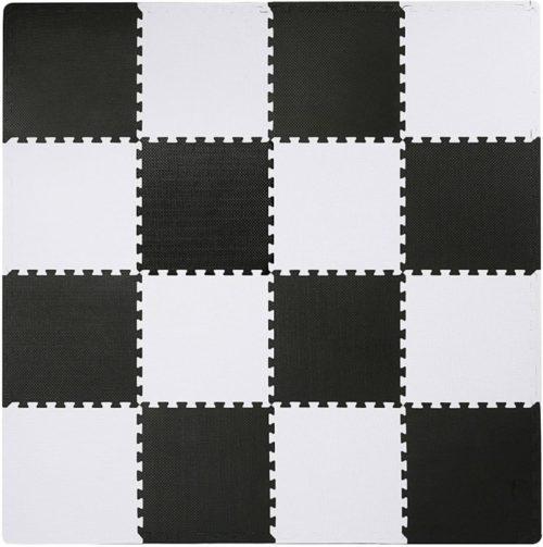 10. Superjare Interlocking EVA Foam Training Puzzles Mat with Color Border