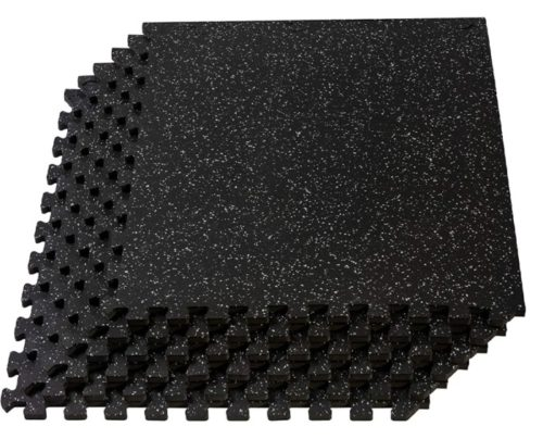 11. Velotas Training Puzzles Mat for Personal Home Gym Flooring Thick Rubber