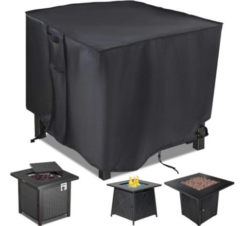 12. Saking Patio Square Fire Pit Cover with Anti-UV and Waterproof