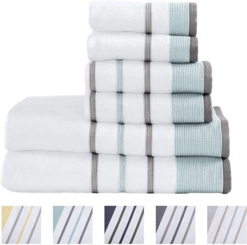13. Great Bay Home Luxury Turkish Bath Towels Set with Highly Quick Dry Towels