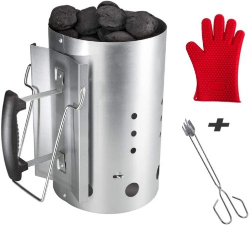 BBQ Future Chimney Charcoal Lighter with Heat Resistant Glove - BBQ Lighter
