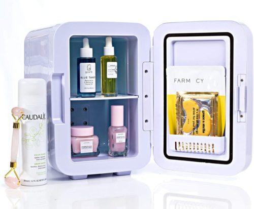 15. ESKIMATE Compact Portable Mini Fridge with Thermoelectric Mini Cooler