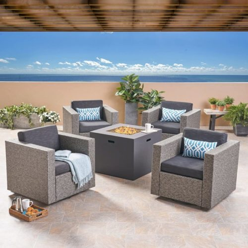 15. Great Deal Furniture Outdoor Square Fire Pit