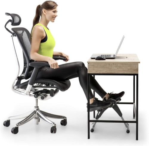 15. Marcy Portable Exercise Peddlers Under Desk Bike for Home and Office