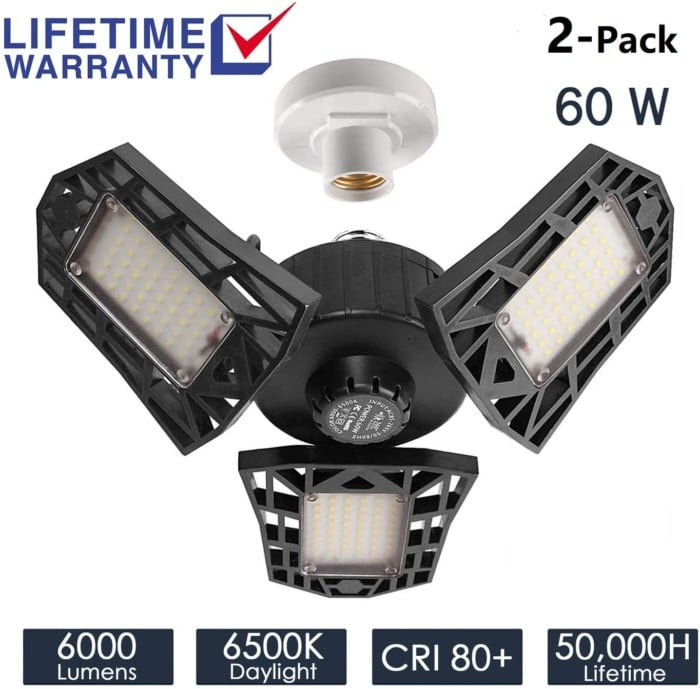 2-Pack Garage Lighting