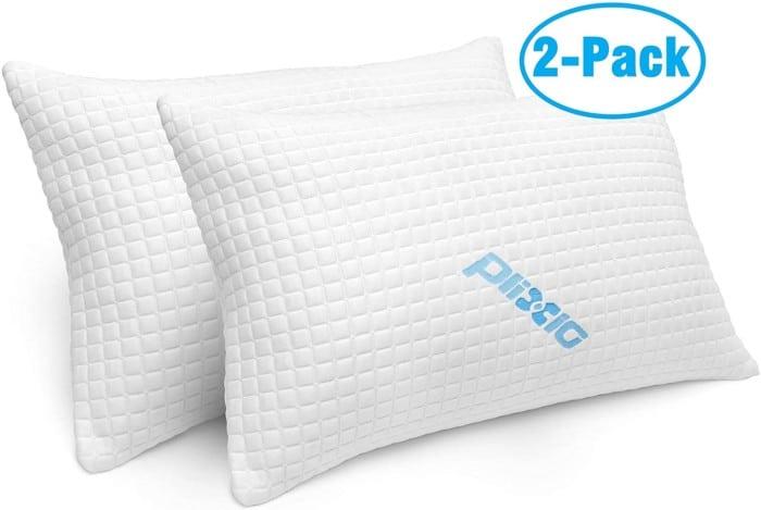 2 Pack Shredded Memory Foam Pillows